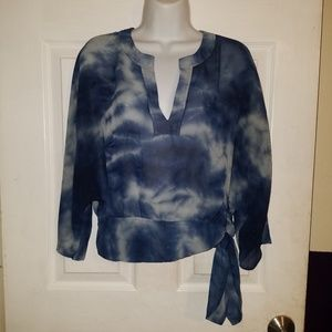 New York & Co Pullover Dolman Sleeve V-Neck Blouse